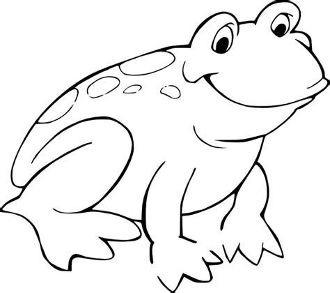 frog coloring page outline frog 11 clip art at clker com vector clip art online