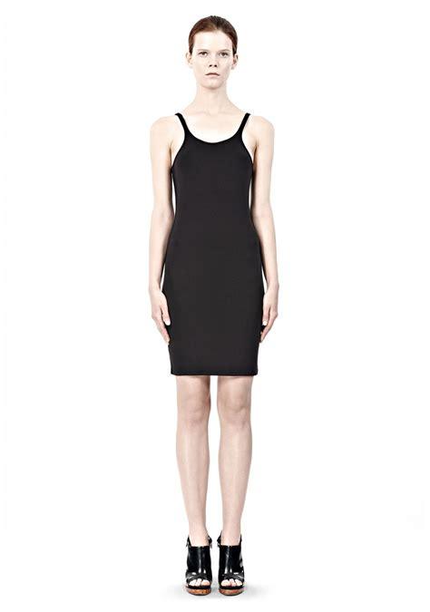 Dress Denim Spandex wang modal spandex cami tank dress in black lyst