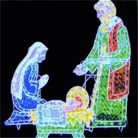 3 pc holographic lighted outdoor nativity set new ebay