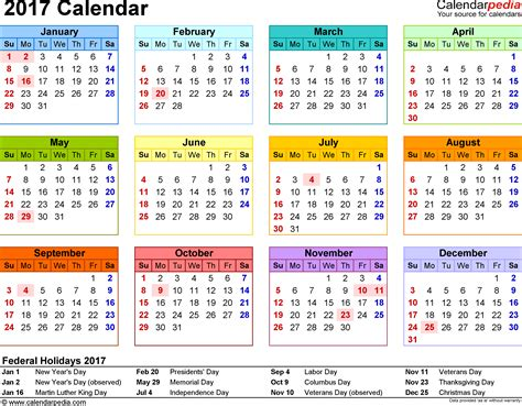 10 year calendar template yearly calendar for 2017 2017 calendar with holidays