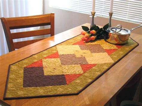 fall table runner finished denise clason studios