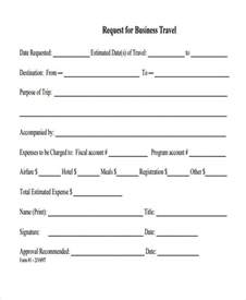 travel request form template doc 585649 travel authorization form exle sle