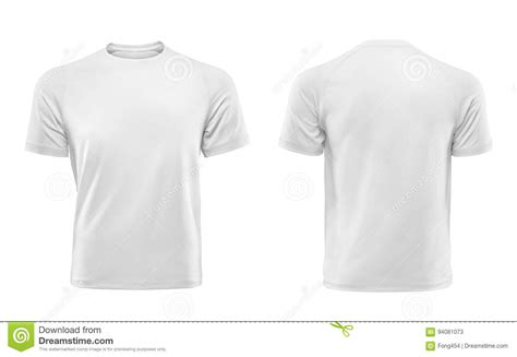 white t shirt front and back template white t shirt design template isolated on white background