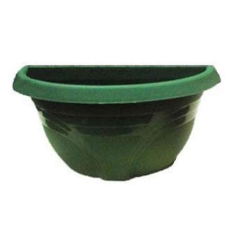 home depot plastic planters ames 16 in evergreen plastic wall planter 2847 the home
