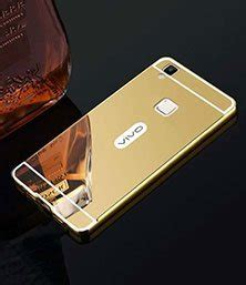 Casing Cover Mirror Vivo Y35 Casing Back Cover Bumper Meta vivo v3 back cover acrylic mirror metallic back gold