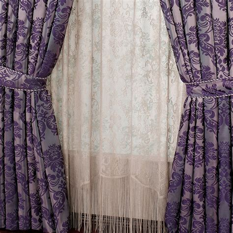 damask curtain damask purple curtains home design ideas and inspiration