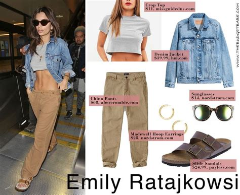 celebrity fashion looks for less celebrity looks emily ratajkowski s cargo pants and crop