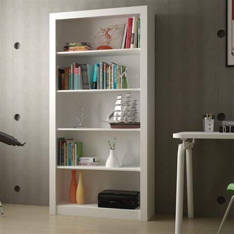 manhattan comfort serra 1 0 white 5 shelf bookcase manhattan comfort olinda 1 0 series 5 shelf bookcase in