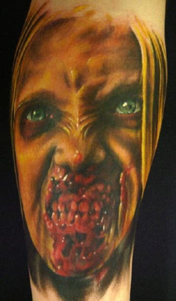 horror zombie tattoo on foot real photo pictures images 20 scary zombie tattoos just cute pics