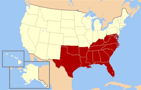 map of the united states south southern united states wikipedia