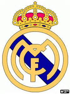 real madrid colors free coloring pages of madrid cf logo