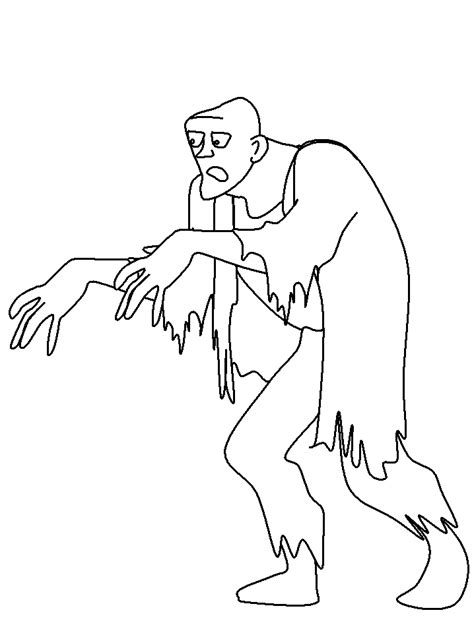 coloring page of a zombie 9 free zombie printable coloring pages