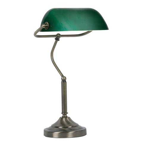 Led Lighting For Home Interiors by Tl 180 Ab Bankers Lamp In Antique Brass