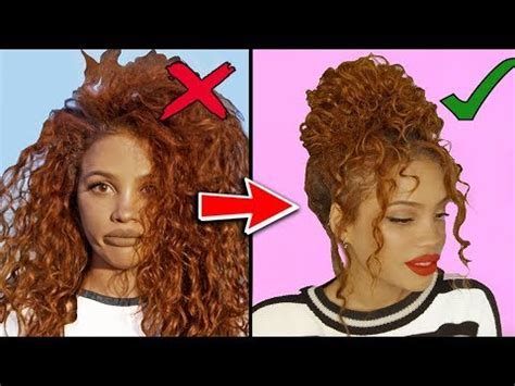 hairstyles for really curly hair youtube 8 curly hairstyles for stubborn hair youtube