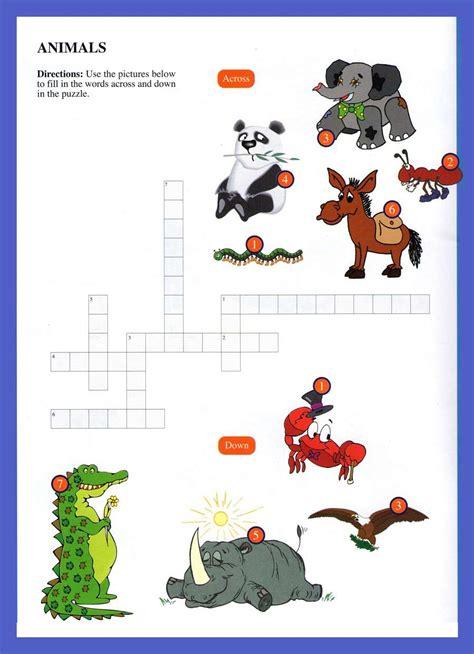 animals word games  kids printable