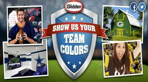 glidden nfl team colors show your nfl fan spirit sweepstakesbible