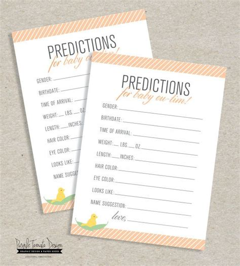 Team Prediction Card Template by Custom Baby Prediction Card Printable Personalized Baby