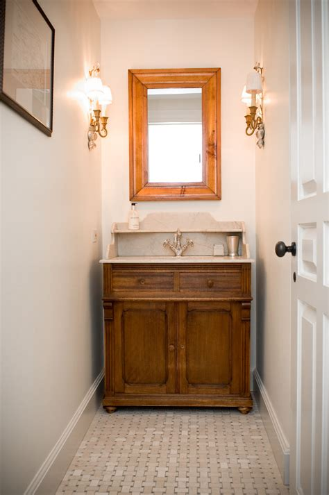 Powder Bath Vanity Powder Room Vanities Powder Room Farmhouse With Antiques