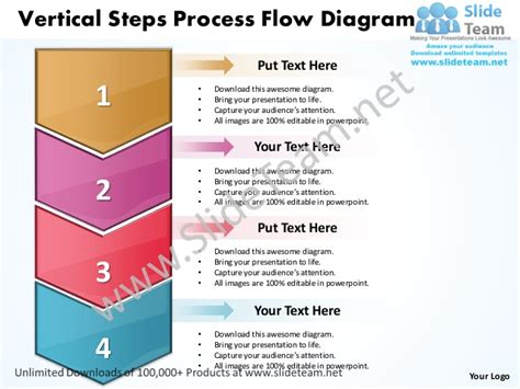 Business Power Point Templates Vertical Steps Process Flow Process Flow Diagram Ppt