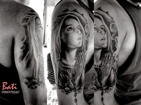 maria tattoo virgen tatuaje obras realizadas por mi