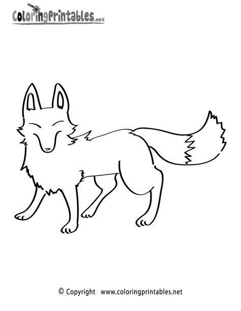 fox drawings coloring pages