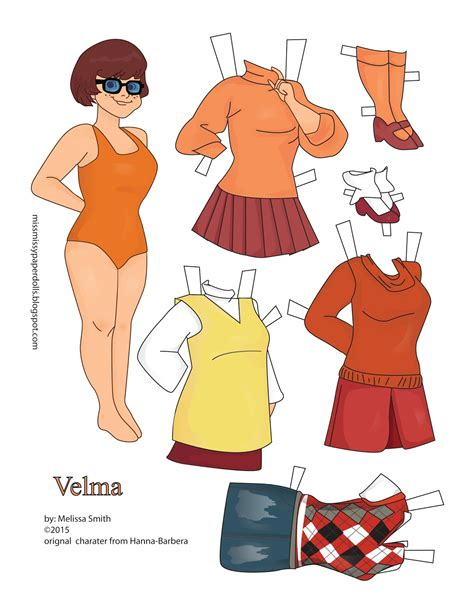 miss paper dolls scooby doo paper dolls and
