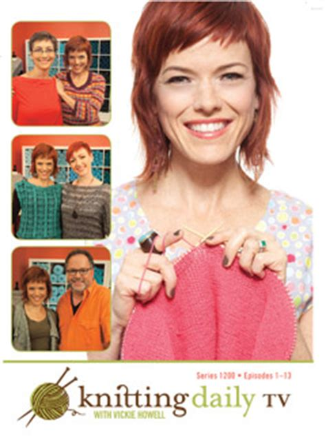 knitting daily tv schedule knitting daily tv series 1200 with vickie howell