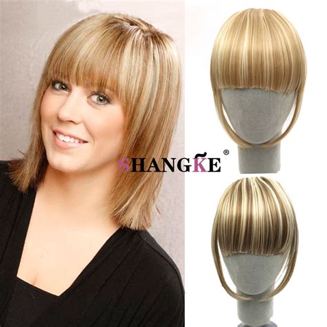 fake bangs clip for thin hair clip in bangs fake hair extension hairpieces front hair