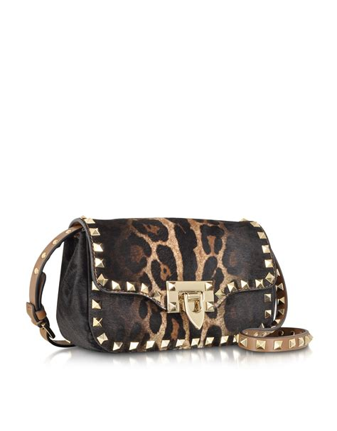 Valentino Leopard Print Bag by Lyst Valentino Leopard Print Haircalf And Leather