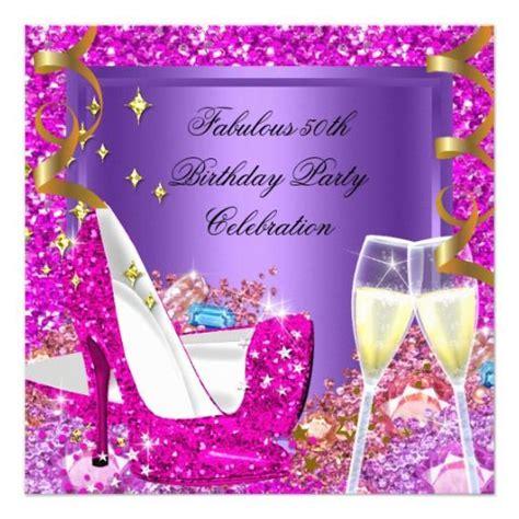 womans purple birthday party invitations invitations 4 u