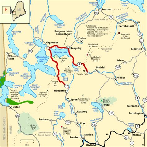 national scenic byway rangeley lakes scenic byway map america s byways