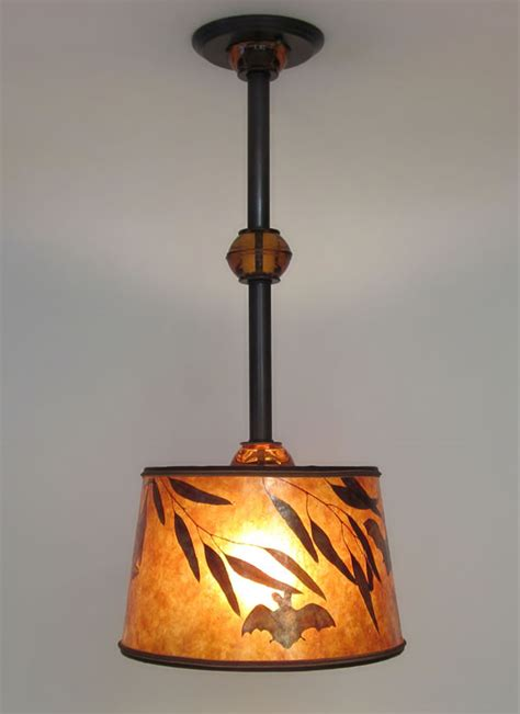 Hanging A Light Fixture From The Ceiling Mica Hanging Ceiling Light Fixture With Bats