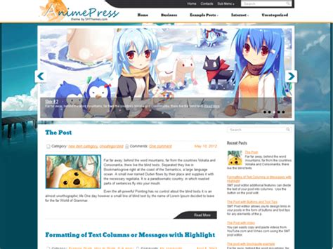 cartoon themes wordpress animepress cartoons free wordpress theme