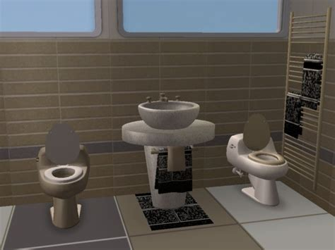 2 Toilets In Bathroom Mod The Sims Toilet Addition To Modern Bathroom