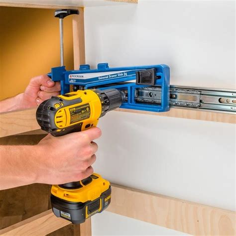 Drawer Slide Mounting Jig by Rockler Universal Drawer Slide Jig Rockler Woodworking And Hardware