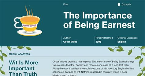 themes the importance of being earnest importance of being earnest types of humor