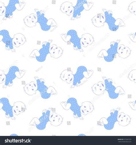 seamless baby patterns stock vector 417195394 shutterstock vector seamless pattern cute crawling baby stock vector