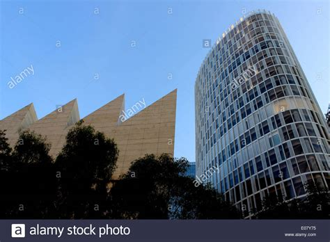 modern architecture in mexico city jumex museum and office building stock photo royalty free
