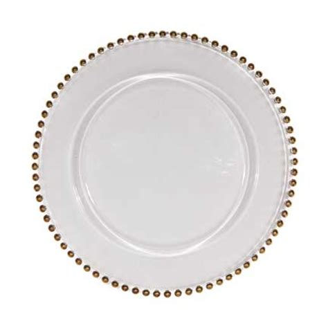 beaded plate chargers gold beaded glass charger plate eclat decor
