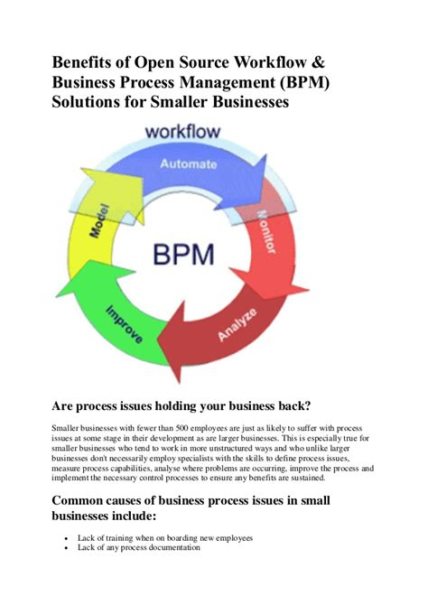 workflow benefits benefits of open source workflow and bpm software