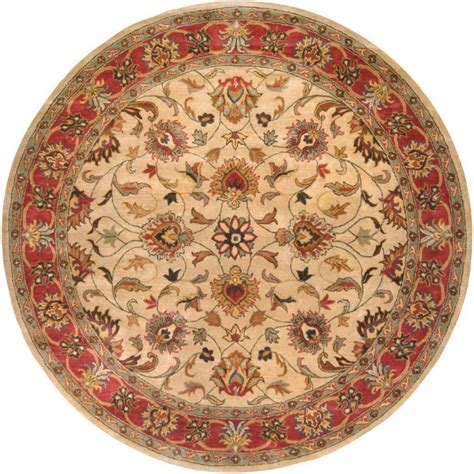 Artistic Weavers Belmont Beige Wool Round 4 Ft Area Rug 4 Foot Area Rugs