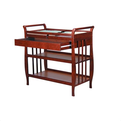 Wood Changing Table Davinci Emily Pine Wood W Drawer Cherry Changing Table Ebay