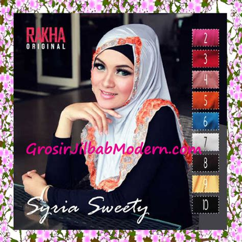Jilbab Syria Cantik jilbab syria sweety cantik original by rakha series