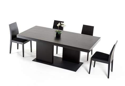 modrest cobalt modern black oak dining table