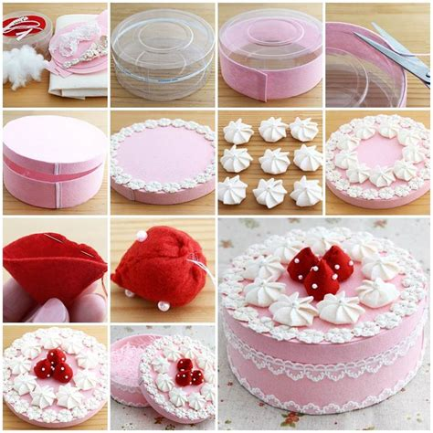 How To Make Handmade Gifts At Home - diy beautiful gift box decorated like a cake