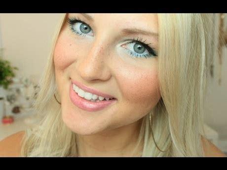 blaue augen schminken blonde haare