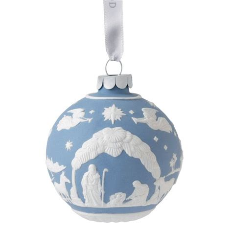 wedgwood nativity ball porcelain christmas ornament