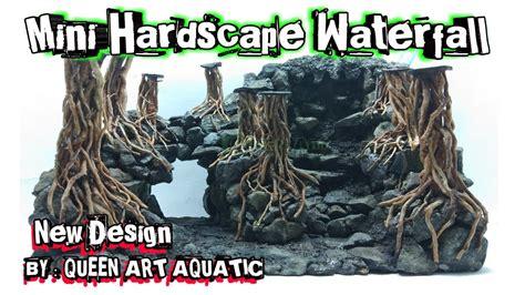 design aquascape air terjun mini hardscape akar