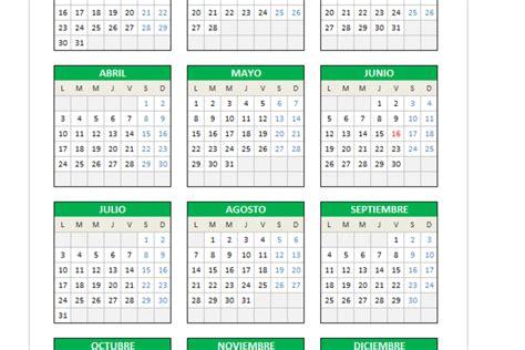 Calendario Septiembre 2017 Editable Calendario 2017 En Excel Planillaexcel