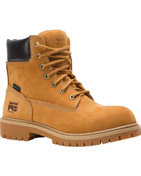 s wheat timberland boots timberland s wheat 6 quot direct attach work boots